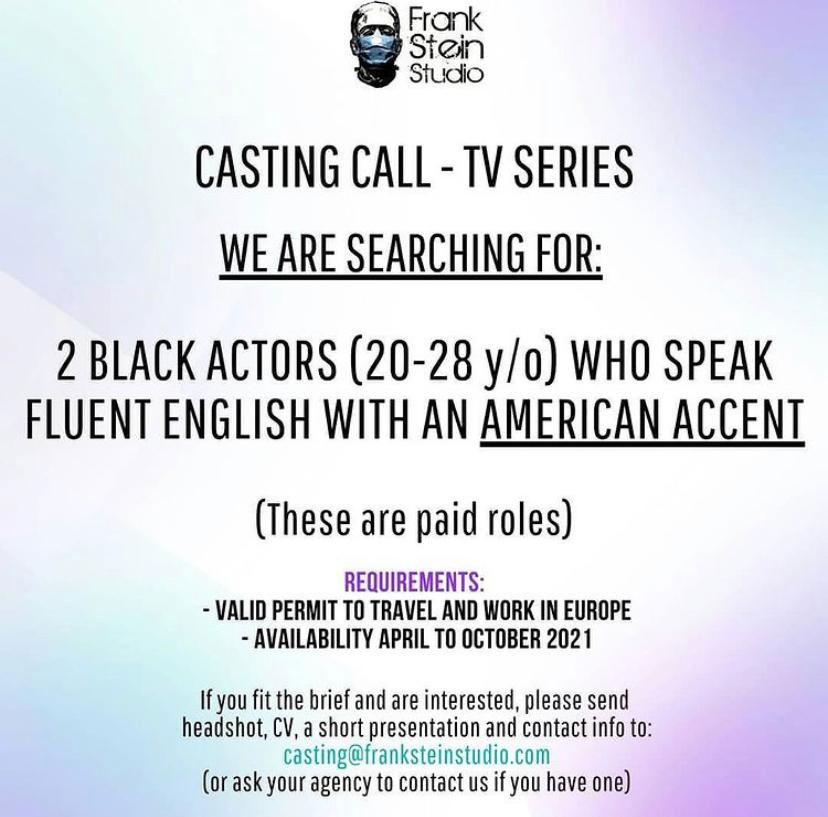 Casting Call-TV Series Frank Stein Studio...